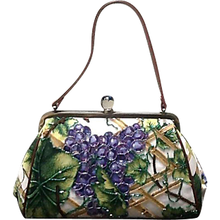 Vintage Isabella Fiore Beaded and Sequined Handbag ***MINT***