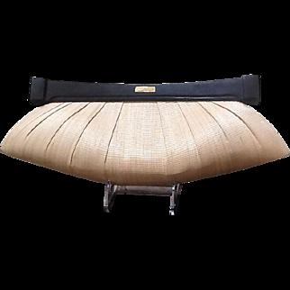 Vintage  Natori Huge Buntal Straw Handbag with Asian Flair ***MINT***