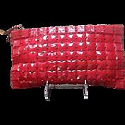 Vintage Red Plastic Tiled Handbag