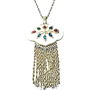Vintage Crown Trifari Statement Necklace from Mogul Collection