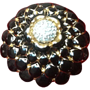 Vintage Judith Leiber Enameled Brooch with Swarovski Crystals