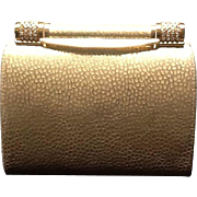 Vintage Rodo  Animal Print Gold Leather Evening Bag with Swarovski Crystal Frame