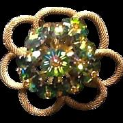 VIntage Austrian Brooch with Swarovski Crystals