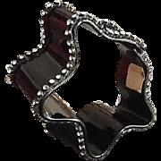Vintage Bill Schiffer Resin ribbon Bangle with Rhinestones