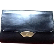 Vintage Lagerfeld Leather Clutch Handbag