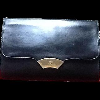 Vintage Lagerfeld Leather Clutch Handbag