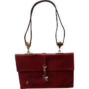 Vintage Roberta Di Camerino Red Handbag with Industrial Flair
