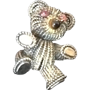 "VIntage Grosse Sterling ""Teddy Bear"" Brooch"