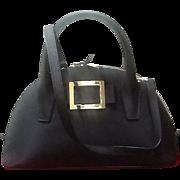 "Vintage Lagerfeld ""GO TO"" Satchel Handbag with Saffiano Leather Trim  *Near MINT*"