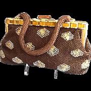 VIntage Stylecraft Miami Plastic Beaded Handbag with Lucite Frame