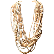VIntage Gerda Lynggaard/MONIES Multi Strand Necklace with Natural Elements