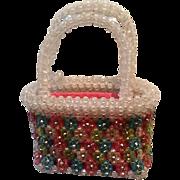 Vintage Delill Italian Lucite Beaded Handbag