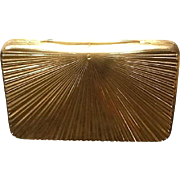 "Vintage Leiber ""Sunburst"" Gold Tone Evening Purse"