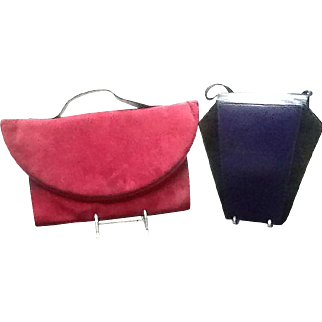 Two Vintage French Sculptural Handbags