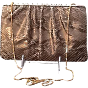 "Vintage Leiber ""Glittery"" Python Purse with Ornate Frame"