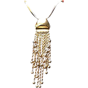 """VIntage Grosse """"Statement""""Necklace with Dangles"""