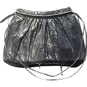 Vintage Leiber Large Navy Python Snakeskin Handbag