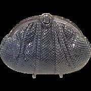 Vintage Leiber Large Python Handbag with Interesting Clasp.