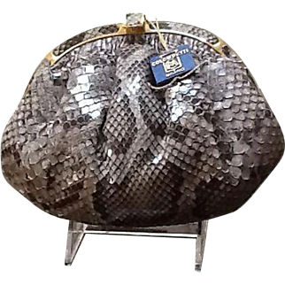 VIntage Colombetti Convertible Python Bag
