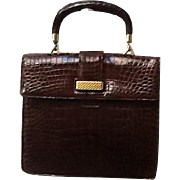 Vintage Lucille de Paris Alligator Kelly Bag
