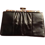 Vintage Leiber Karung Snakeskin Handbag with Stones