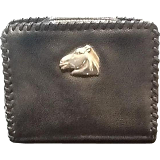 Vintage Kieselstein Leather Clutch Equestrian Collection
