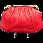 "Vintage Judith Leiber ""Red"" Handbag with Jewels ***Near MINT***"