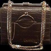Vintage Rosenfeld Alligator Handbag  ***Near Mint***
