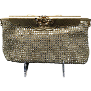 Vintage Johann Becker Rhinestone Clutch with Fancy Frame *** Near Mint***