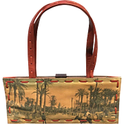 Vintage Jamin Puech Hand-Crafted Handbag with Unusual African Flair