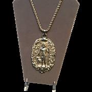 Vintage Judith Leiber Statement Necklace with Huge Pendant