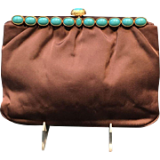 Vintage Rosenfeld Evening Clutch Purse with Jeweled Frame