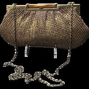Vintage Knit Clutch/Handbag with Lucite Clasp