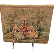 Vintage French Two Sided Micro Petit Point Envelope Clutch Style