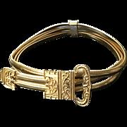 "Vintage Leiber Triple Coil ""Buckle"" Belt"