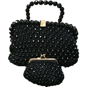 Vintage Rosenfeld Jeweled Handbag with Jeweled Coin Purse