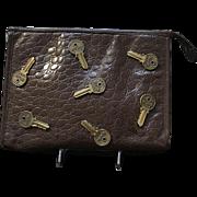 "VIntage Moschino by Redwall ""Keys"" Clutch"