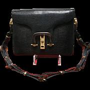 Vintage La Jeunesse Karung Shoulder Bag with Faux Tortoise Shell Accents