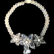 VIntage Bozart Romantic Lucite Necklace with Jewels