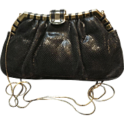 Vintage Leiber Karung Handbag with Glitzy Frame