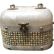"Vintage B.B. Lucite Handbag with ""Candy Dots"""
