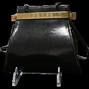 Vintage Karl Lagerfeld Classic Patent Leather Handbag