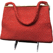 Vintage Morabito Ruby Red Beaded Purse