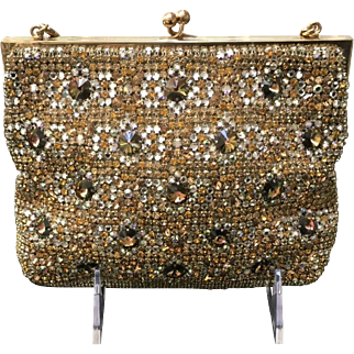 VIntage Austrian Evening Purse Adorned with Crystals