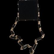Vintage Italian Black Lucite Shoulder Bag