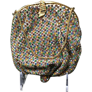 Vintage Multi Colored Rhinestone Purse Made in England