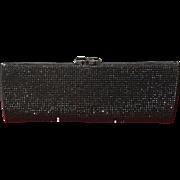 VIntage Judith Leiber Black Purse with Swarovski Crystals