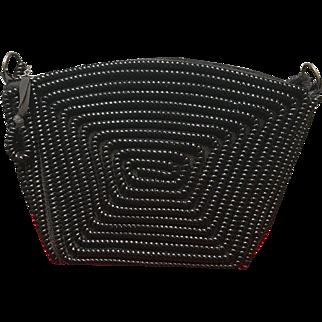 Vintage Black Telephone Cord Handbag