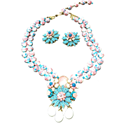 Vintage Ian St. Gielar for Stanley Hagler Demi Parure:  Necklace and Earrings