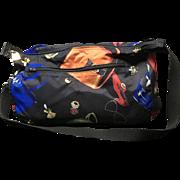 Vintage Rare Lagerfeld Duffel/Gym Bag Shoe/Purse/Jewel Motif *** Reversible***